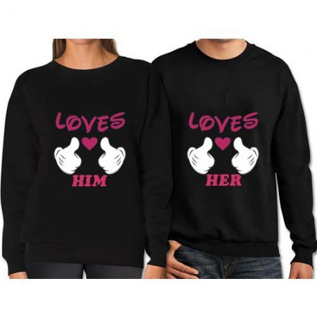 Giftsuncommon - Love Printed T Shirt For Couple